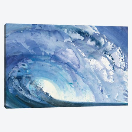 Barrel Wave Canvas Print #ALH55} by Albena Hristova Canvas Art Print