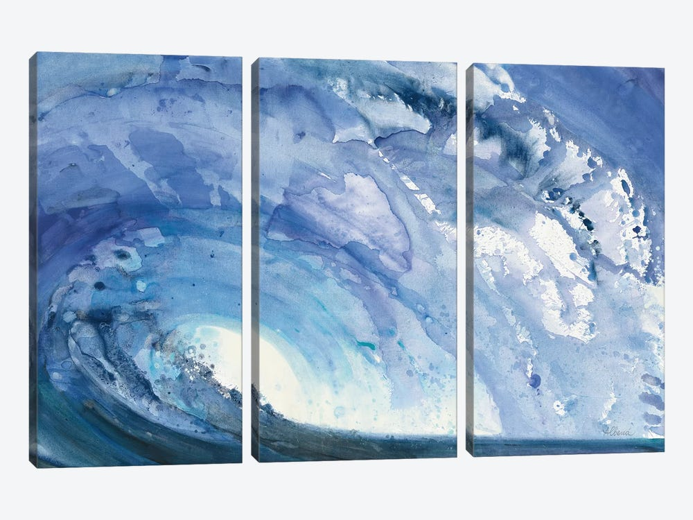 Barrel Wave by Albena Hristova 3-piece Canvas Wall Art