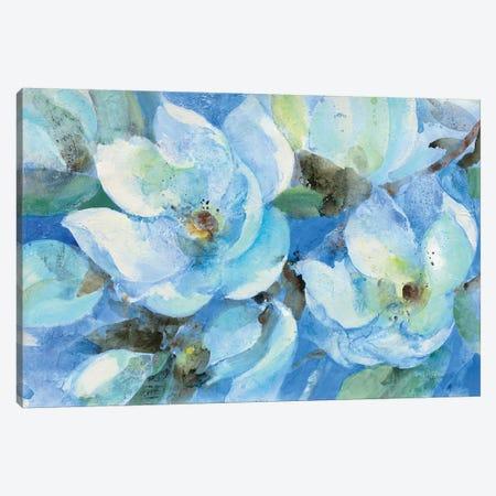 Blue Magnolias Canvas Print #ALH56} by Albena Hristova Canvas Print