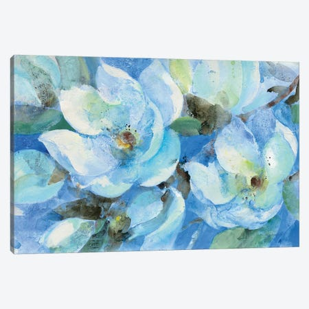 Blue Magnolias Canvas Print #ALH56} by Albena Hristova Canvas Print