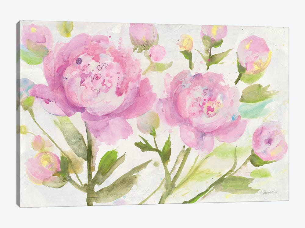 Bright Peonies by Albena Hristova 1-piece Canvas Artwork