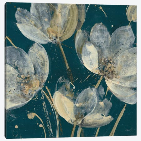 Translucent Garden Teal Crop Canvas Print #ALH60} by Albena Hristova Canvas Art Print