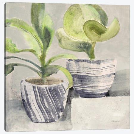 Greenery Still Life with Navy Canvas Print #ALH76} by Albena Hristova Canvas Art Print