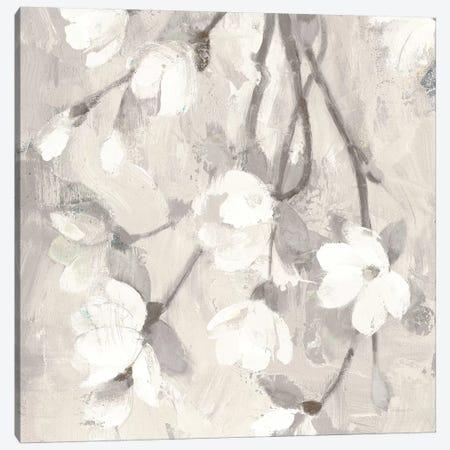 Magnolia Branch Flipped Cream Crop Canvas Print #ALH79} by Albena Hristova Canvas Art