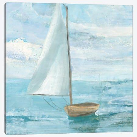 Silver Sail Bright Canvas Print #ALH90} by Albena Hristova Canvas Art