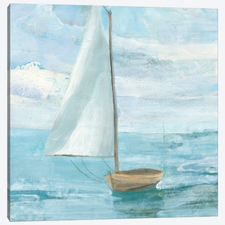 Silver Sail Bright Canvas Print #ALH90} by Albena Hristova Canvas Art