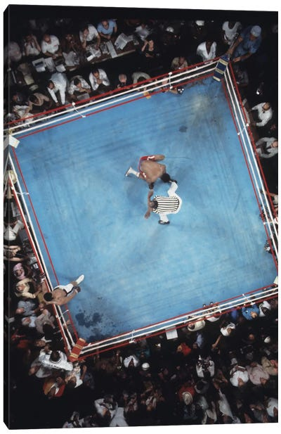 Opponent On One Knee Getting Counted Out, Rumble In The Jungle™ Canvas Art Print