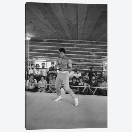 In-Ring Movement At Deer Lake I (Rumble In The Jungle™ Training Camp) Canvas Print #ALI14} by Muhammad Ali Enterprises Canvas Artwork