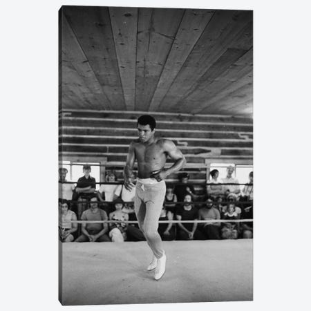 In-Ring Movement At Deer Lake II (Rumble In The Jungle™ Training Camp) Canvas Print #ALI15} by Muhammad Ali Enterprises Canvas Wall Art