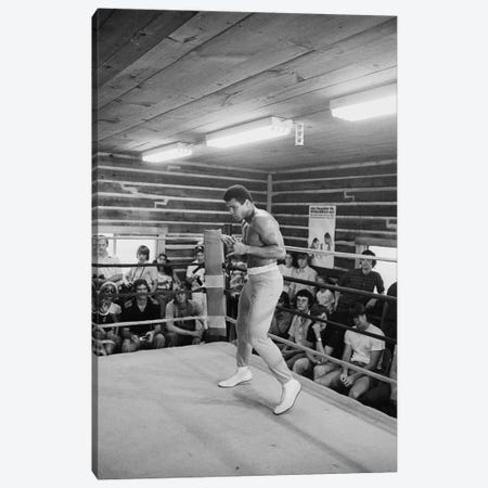 In-Ring Movement At Deer Lake III (Rumble In The Jungle™ Training Camp) Canvas Print #ALI16} by Muhammad Ali Enterprises Canvas Artwork