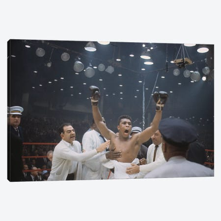 Jubilant Victory Celebration, February 25th, 1964 Canvas Print #ALI23} by Muhammad Ali Enterprises Canvas Wall Art