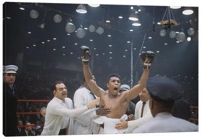 Jubilant Victory Celebration, February 25th, 1964 Canvas Art Print