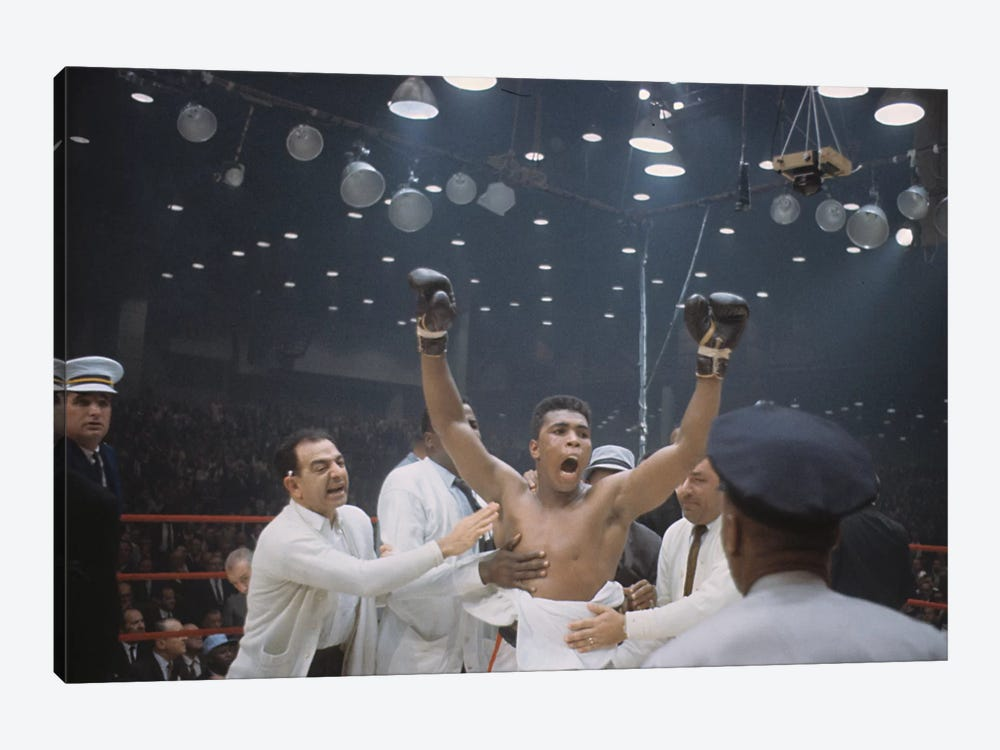 Jubilant Victory Celebration, February 25th, 1964 by Muhammad Ali Enterprises 1-piece Canvas Wall Art
