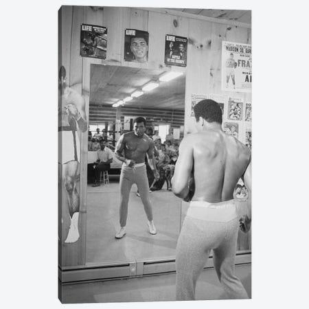 Mirror Training At Deer Lake III Canvas Print #ALI30} by Muhammad Ali Enterprises Canvas Print
