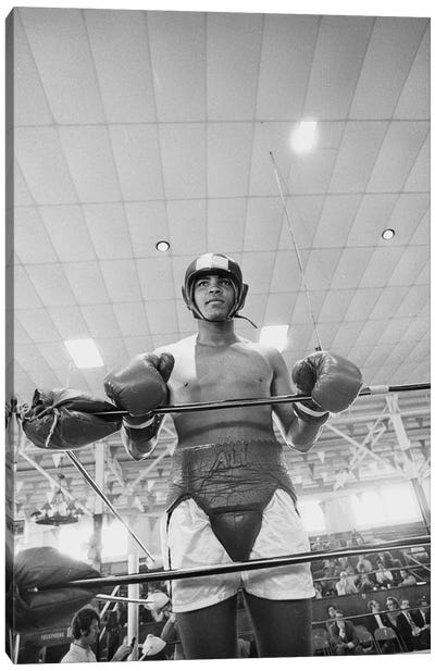 Muhammad Ali In Sparring Gear Canvas Art Print