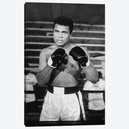 Muhammad Ali With A Fierce Glare While Training Canvas Print #ALI56} by Muhammad Ali Enterprises Canvas Art