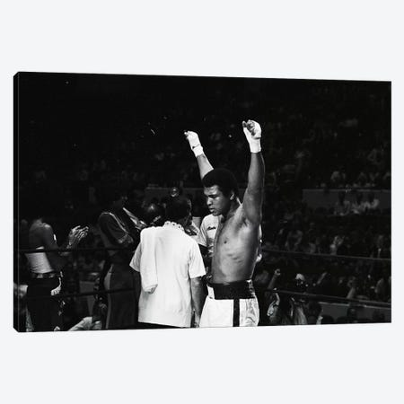 Muhammad Ali With Hands Raised Canvas Print #ALI59} by Muhammad Ali Enterprises Art Print