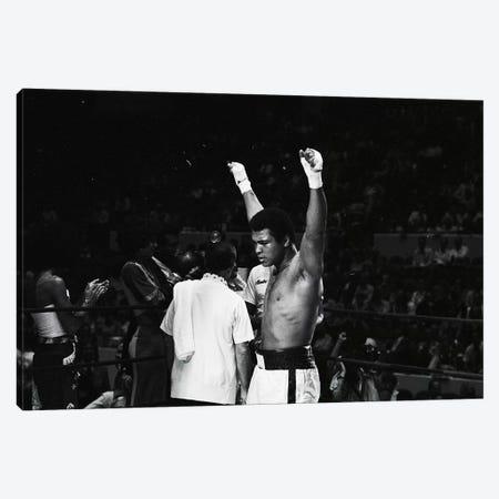 Muhammad Ali With Hands Raised Canvas Print #ALI59} by Muhammad Ali Enterprises Art Print