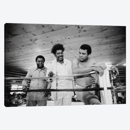 Muhammad Ali, Promoter And Friend In A Corner Of The Ring, Deer Lake Training Facility Canvas Print #ALI60} by Muhammad Ali Enterprises Canvas Wall Art