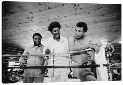 Muhammad Ali, Promoter And Friend In A Corner Of The Ring, Deer Lake Training Facility Canvas Art Print