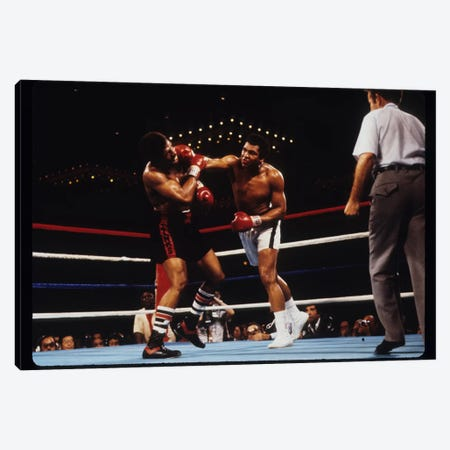 Overhand Right Connects, February 15th, 1978 Canvas Print #ALI62} by Muhammad Ali Enterprises Canvas Wall Art