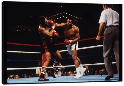 Overhand Right Connects, February 15th, 1978 Canvas Art Print