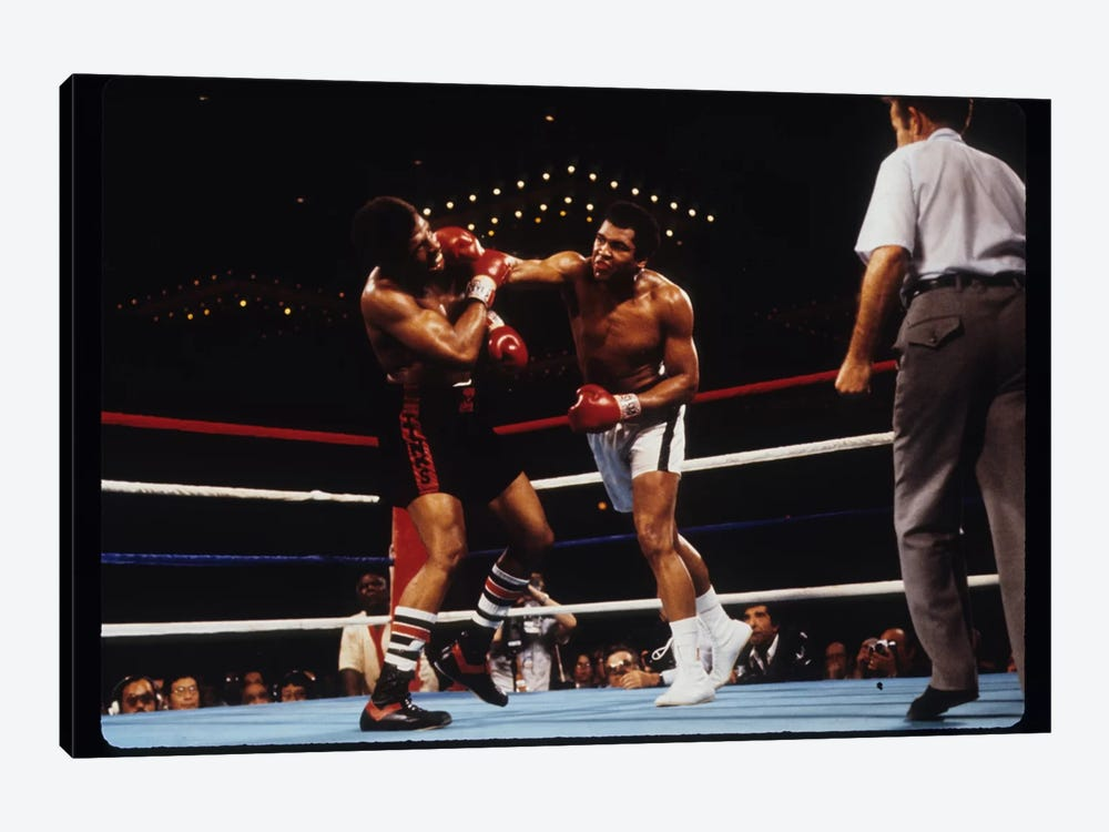 Overhand Right Connects, February 15th, 1978 by Muhammad Ali Enterprises 1-piece Canvas Art Print
