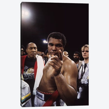 Post-Fight #1 Gesture, Drama In Bahama Canvas Print #ALI63} by Muhammad Ali Enterprises Canvas Art