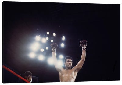 Post-Fight Raising Of The Arms Canvas Art Print