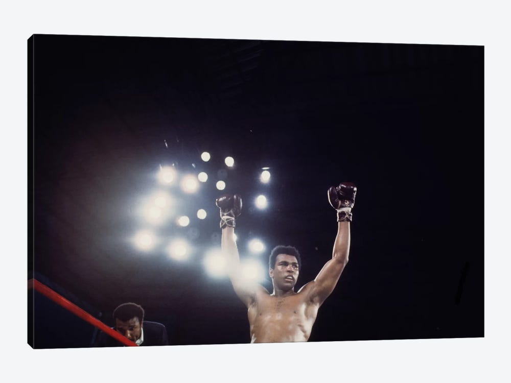 Post-Fight Raising Of The Arms by Muhammad Ali Enterprises 1-piece Art Print