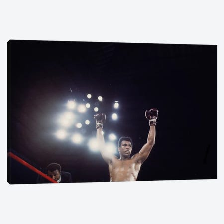 Post-Fight Raising Of The Arms Canvas Print #ALI64} by Muhammad Ali Enterprises Canvas Art Print