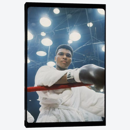 Pre-Fight Corner Shot Of A Young, Robed Muhammad Ali Canvas Print #ALI67} by Muhammad Ali Enterprises Canvas Art Print