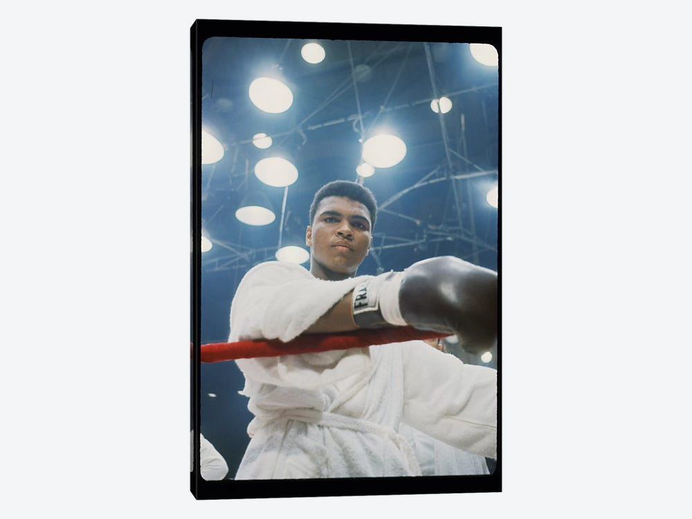 Pre-Fight Corner Shot Of A Young, Robed Muhammad Ali by Muhammad Ali Enterprises 1-piece Canvas Art