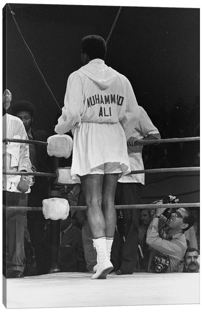 Rear View Of A Robed Muhammad Ali Canvas Art Print