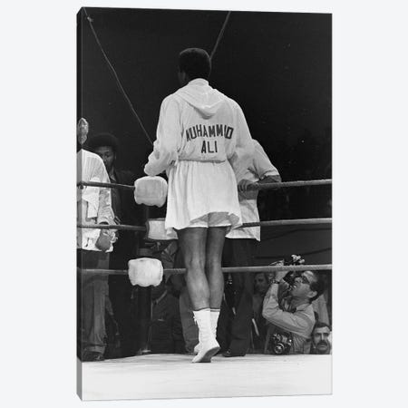 Rear View Of A Robed Muhammad Ali Canvas Print #ALI74} by Muhammad Ali Enterprises Canvas Wall Art