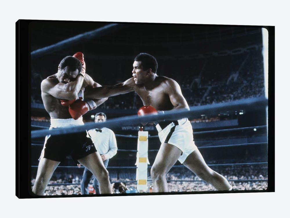 Right To The Chest, September 28th, 1976 by Muhammad Ali Enterprises 1-piece Canvas Art Print