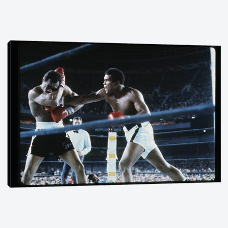 Right To The Chest, September 28th, 1976 Canvas Print #ALI75} by Muhammad Ali Enterprises Canvas Wall Art
