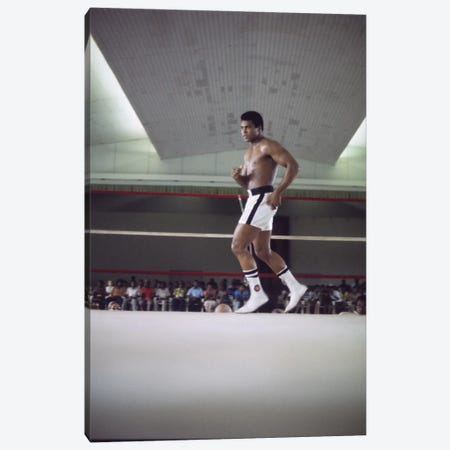 Rumble In The Jungle™ Footwork Training Canvas Print #ALI76} by Muhammad Ali Enterprises Canvas Art