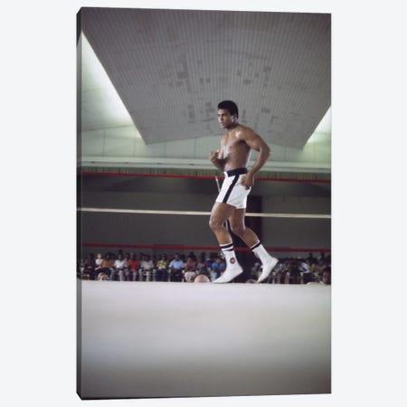Rumble In The Jungle™ Footwork Training Canvas Print #ALI76} by Muhammad Ali Enterprises Canvas Art