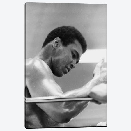 Side View Of Muhammad Ali In The Corner II Canvas Print #ALI80} by Muhammad Ali Enterprises Canvas Art