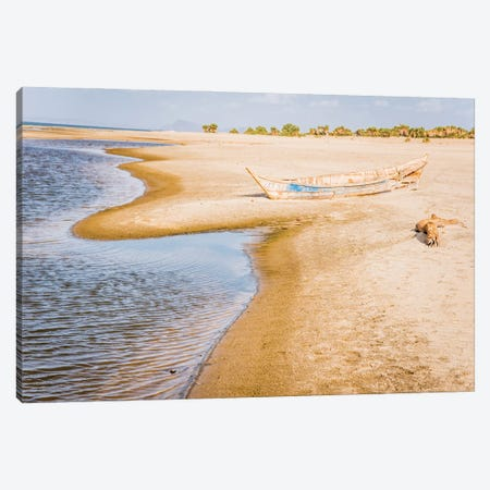 East Africa, Kenya. Omo River Basin, Lake Turkana Basin, west shore of Lake Turkana, Lobolo Camp beach. Canvas Print #ALJ5} by Alison Jones Canvas Print
