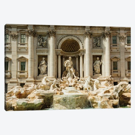 Italy, Rome. The Trevi Fountain, designed by Nicola Salvi. Canvas Print #ALJ6} by Alison Jones Canvas Print