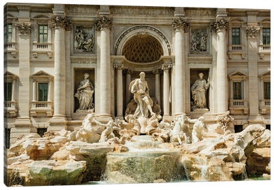 Italy, Rome. The Trevi Fountain, designed by Nicola Salvi. Canvas Art Print