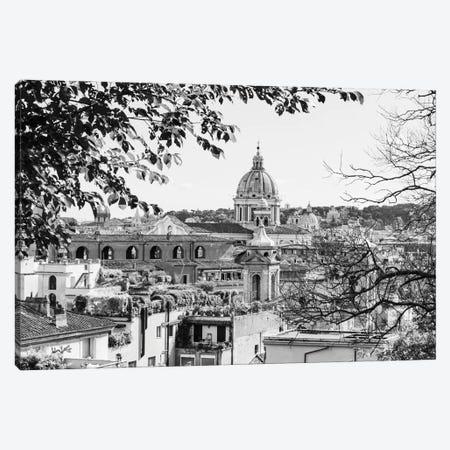 Italy, Rome. St Peter's dome from Viale della Trinita dei Monti. Canvas Print #ALJ7} by Alison Jones Canvas Art Print