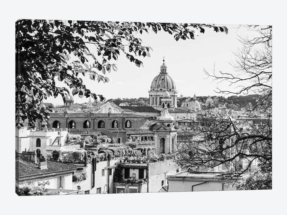 Italy, Rome. St Peter's dome from Viale della Trinita dei Monti. by Alison Jones 1-piece Canvas Art
