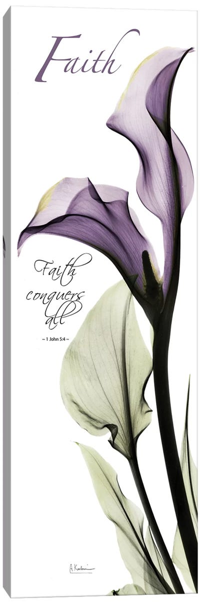 Calla Lily Faith  Canvas Art Print