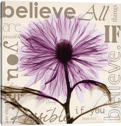 Chrysanthemum Believe Canvas Art Print