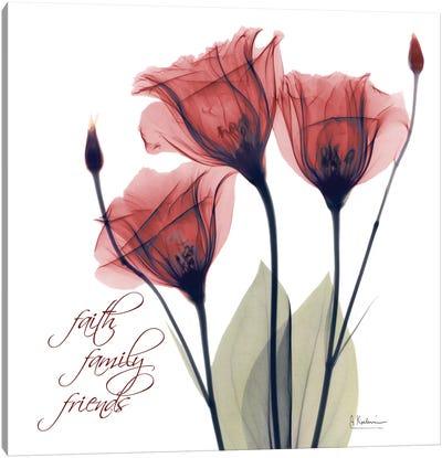 Red Tulip Faith Canvas Art Print