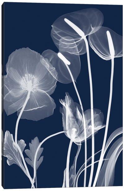 Navy Flora I Canvas Art Print