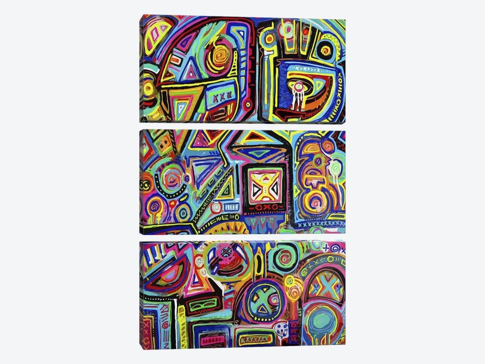 Machine Against the Rage by Alloyius McIlwaine 3-piece Canvas Art Print